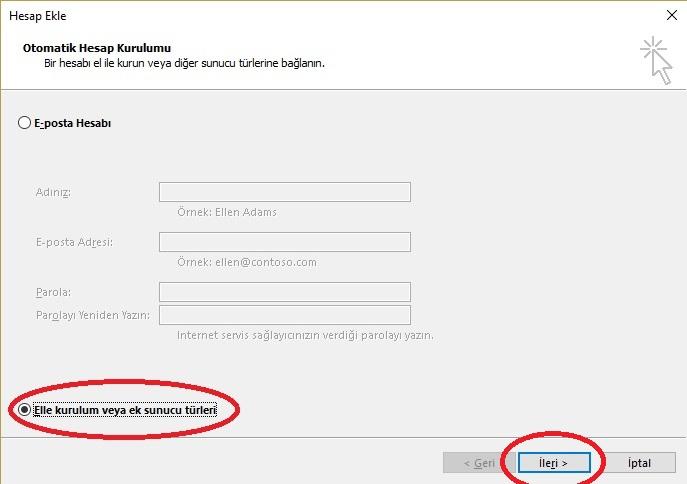 Outlook Mail Kurulum Resimli Anlatım